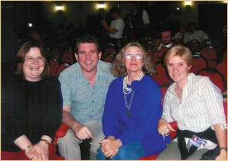 London promoter Ann Lindup, Richard Arnold, Antoinette Bower and Laura